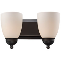 Clayton 2 Light 14 inch Rubbed Oil Bronze Vanity Bar Wall Light