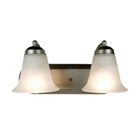 Trans Globe Morgan House 2 Light Vanity Light in Brushed Nickel 3502-BN