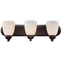 Clayton 3 Light 24 inch Rubbed Oil Bronze Vanity Bar Wall Light