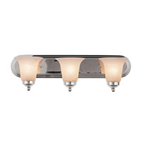 Trans Globe Morgan House 3 Light Vanity Light in Polished Chrome 3503-PC