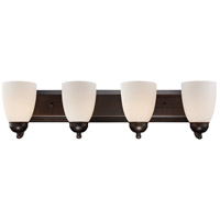 Clayton 4 Light 30 inch Rubbed Oil Bronze Vanity Bar Wall Light