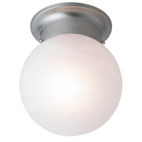Trans Globe Idlewyld 1 Light Flush Mount in Brushed Nickel 3606-BN