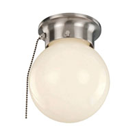 Trans Globe Idlewyld 1 Light Flush Mount in Brushed Nickel 3606P-BN