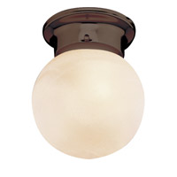 Trans Globe Idlewyld 1 Light Flush Mount in Rubbed Oil Bronze 3607-ROB