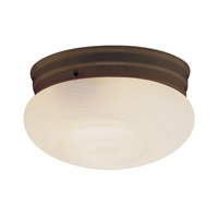 Mushroom 1 Light 8 inch Rubbed Oil Bronze Flush Mount Ceiling Light