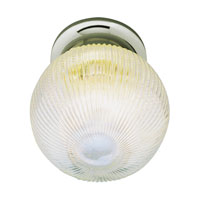 Trans Globe Holophane 1 Light Flush Mount in Brushed Nickel 3632-BN