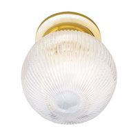 Trans Globe Holophane 1 Light Flush Mount in Polished Brass 3632-PB