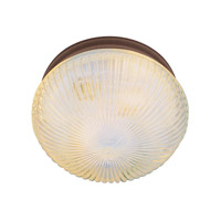 Trans Globe Holophane 1 Light Flush Mount in Rubbed Oil Bronze 3638-ROB