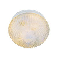 Trans Globe Holophane 1 Light Flush Mount in White 3638-WH
