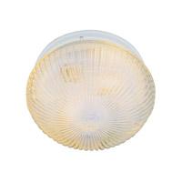 Trans Globe Lighting 3638-WH Harbor 1 Light 8 inch White Flushmount Ceiling Light