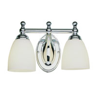 Trans Globe Lighting Signature 2 Light Bath Bar in Polished Chrome 3652-PC