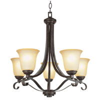Trans Globe Lighting New Century 5 Light Chandelier in Antique Brown Rust 3685-ABR photo thumbnail