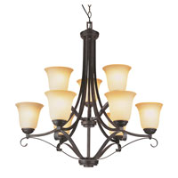 Trans Globe Lighting New Century 9 Light Chandelier in Antique Brown Rust 3687-ABR photo thumbnail