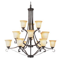Trans Globe Lighting New Century 15 Light Chandelier in Antique Brown Rust 3688-ABR photo thumbnail