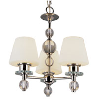 Trans Globe Lighting Modern Meets Traditional 3 Light Chandelier in Polished Chrome 3903-PC