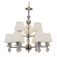Trans Globe Lighting Modern Meets Traditional 9 Light Chandelier in Polished Chrome 3909-PC