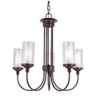 Trans Globe Lighting Modern Meets Traditional 5 Light Chandelier in Rubbed Oil Bronze 3925