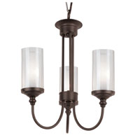 Trans Globe Lighting Modern Meets Traditional 3 Light Chandelier in Rubbed Oil Bronze 3926