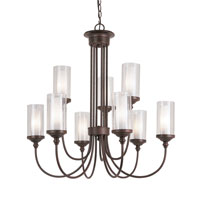 Trans Globe Lighting Modern Meets Traditional 9 Light Chandelier in Rubbed Oil Bronze 3929