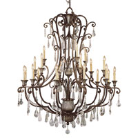 Trans Globe Lighting Crystal Flair 21 Light Chandelier in Antique Bronze 3961