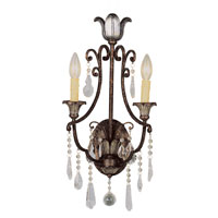 Trans Globe Lighting Crystal Flair 2 Light Wall Sconce in Antique Bronze 3962