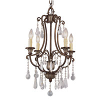 Trans Globe Lighting Crystal Flair 4 Light Chandelier in Antique Bronze 3964