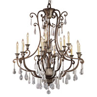 Trans Globe Lighting Crystal Flair 15 Light Chandelier in Antique Bronze 3965
