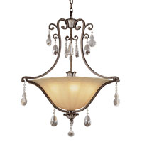 Trans Globe Lighting Crystal Flair 5 Light Pendant in Antique Bronze 3967