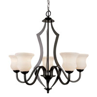 Trans Globe Lighting Contemporary 5 Light Chandelier in Black 3985-BK