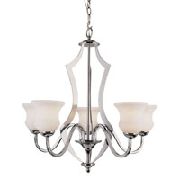 Trans Globe Lighting Contemporary 5 Light Chandelier in Polished Chrome 3985-PC photo thumbnail