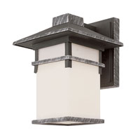 Trans Globe Mission Creek 1 Light Outdoor Wall Lantern in Swedish Iron 40022-SWI