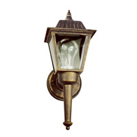 Signature 1 Light 14 inch Black Gold Outdoor Wall Lantern