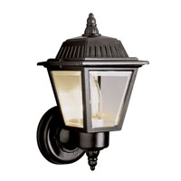 Trans Globe Signature 1 Light Outdoor Wall Lantern in Black 4006-BK