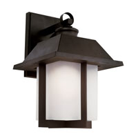 Trans Globe Pagoda 1 Light Outdoor Wall Lantern in Black 40112-BK