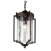 Trans Globe Coastal Sea 1 Light Outdoor Hanging Lantern in Black 40134-BK