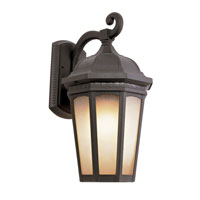 Tea Chateau 1 Light 12 inch Black Outdoor Wall Lantern