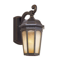 Tea Chateau 1 Light 12 inch Weathered Bronze Outdoor Wall Lantern