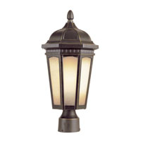 Trans Globe Tea Chateau 1 Light Outdoor Post Light in Weathered Bronze 40152-WB