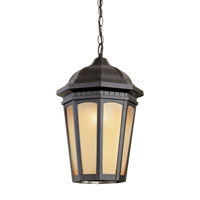 Trans Globe Tea Chateau 1 Light Outdoor Pendant in Black 40153-BK