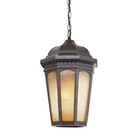 Trans Globe Tea Chateau 1 Light Outdoor Pendant in Weathered Bronze 40153-WB