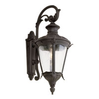 Trans Globe Imperial Leaf 1 Light Outdoor Wall Lantern in Black 40161-BK