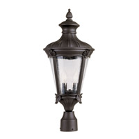 Trans Globe Imperial Leaf 2 Light Outdoor Post Light in Black 40165-BK