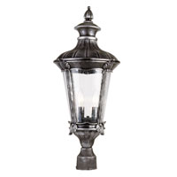 Trans Globe Imperial Leaf 2 Light Outdoor Post Light in Swedish Iron 40165-SWI