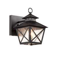 Trans Globe Lighting 40170-BK Chimney 1 Light 9 inch Black Outdoor Wall Lantern