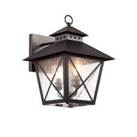 Trans Globe Chimney 1 Light Outdoor Wall Lantern in Black 40171-BK