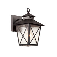 Trans Globe Chimney 2 Light Outdoor Wall Lantern in Black 40172-BK