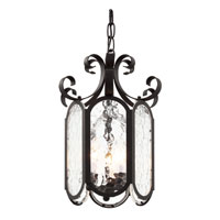 Trans Globe Signature 3 Light Foyer Pendant in Black 40190-BK