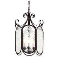 Trans Globe Iced Glass 4 Light Foyer Pendant in Black 40191-BK