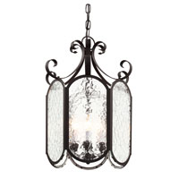 Trans Globe Iced Glass 6 Light Foyer Pendant in Black 40192-BK