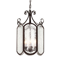 Trans Globe Iced Glass 6 Light Foyer Pendant in Rubbed Oil Bronze 40192-ROB